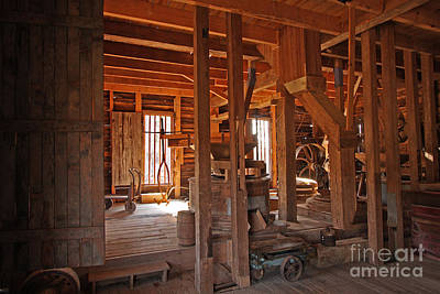 Dunn's Mill Art Print by Russell Christie