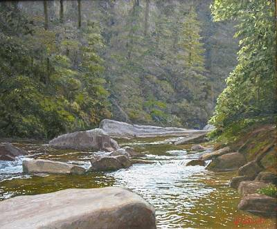 Dupont Painting - Dusk On The River by Joseph Kotowski