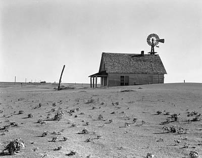 Weathervane Photograph - Dust Bowl, 1938 by Granger