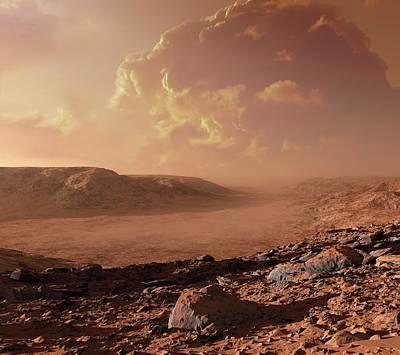 Dust Storm On Mars Art Print by Detlev Van Ravenswaay