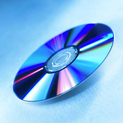 Disc Photograph - Dvds by Science Photo Library