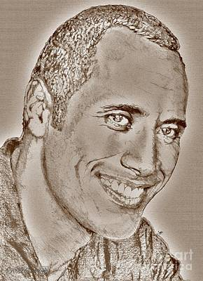 Digital Art - Dwayne Johnson In 2007 by J McCombie