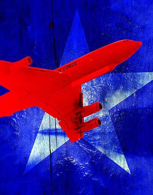 Jet Star Digital Art - E-8 Joint Stars---patriotism by Reggie Saunders