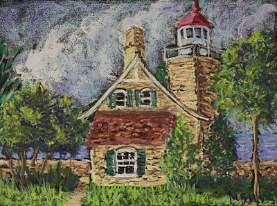 Painting - Eagle Bluff Lighthouse by Madonna Siles