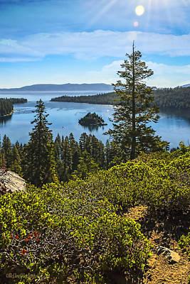 Eagle Painting - Eagle Falls  Emerald Bay Lake Tahoe California by LeeAnn McLaneGoetz McLaneGoetzStudioLLCcom