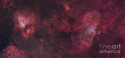 Photograph - Eagle Nebula And Swan Nebula by Roberto Colombari