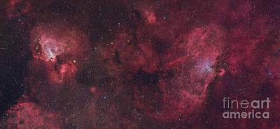 Eagle Nebula And Swan Nebula Art Print