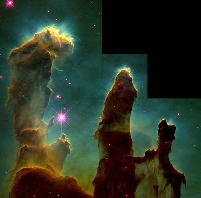 Celestial Pillars.celestial Photograph - Eagle Nebula, Messier 16 by Science Source