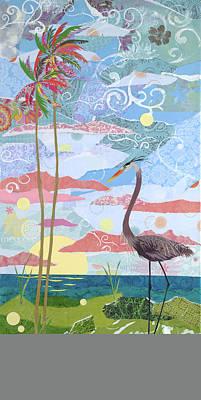 Beach Bird Painting - Early Bird by Jennifer Peck