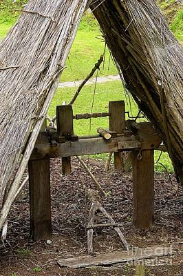 Wood Turning Photograph - Early Medieval Lathe by Sheila Terry