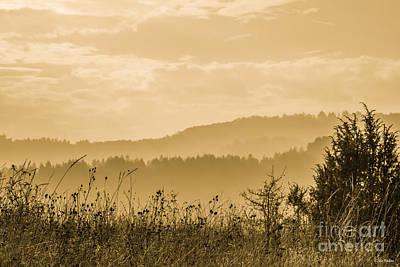 Early Morning Vitosha Mountain View Bulgaria Art Print by Jivko Nakev