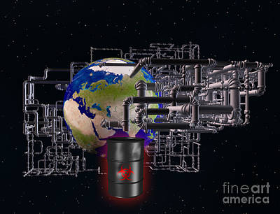 Earth And Pipes Art Print