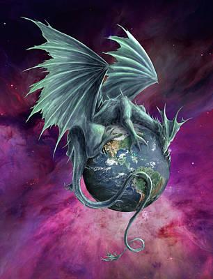 Digital Art - Earth Dragon by Rob Carlos