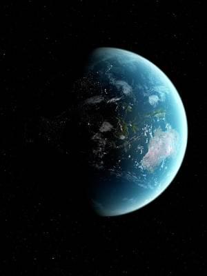 Digital Art - Earth From Space, Artwork by Sciepro