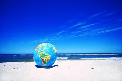 Photograph - Earth Globe. Conceptual Image by Michal Bednarek