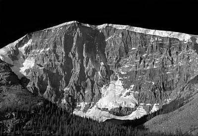 Photograph - 1m3760-bw-east Face Mt. Kitchener by Ed  Cooper Photography