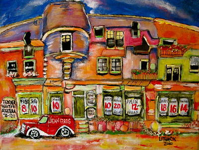 L Storefront Painting - East Of Rose De Lima by Michael Litvack