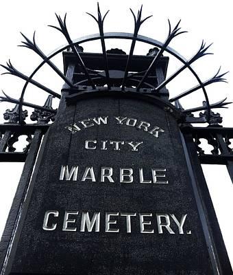 Greenwich Village Digital Art - East Village Cemetery by Natasha Marco