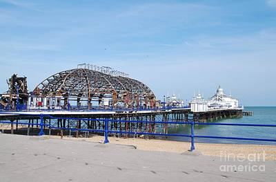 Photograph - Eastbourne Pier Fire Damage by David Fowler