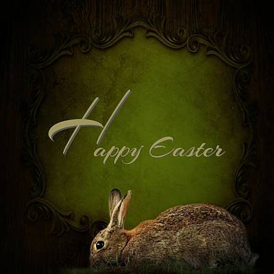 Happy Easter Mixed Media - Easter Bunny by Heike Hultsch