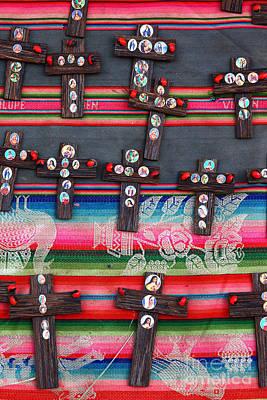 Semana Santa Wall Art - Photograph - Easter Crosses by James Brunker