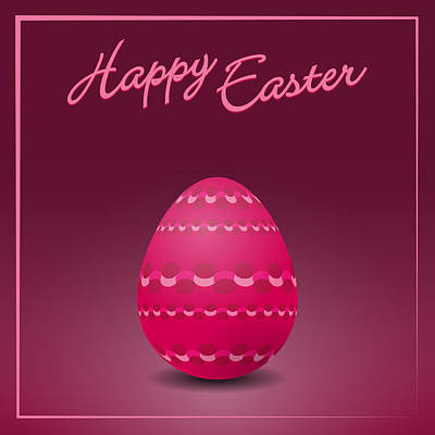 Easter Celebration Drawing - Easter Eggs Card by Alain De Maximy