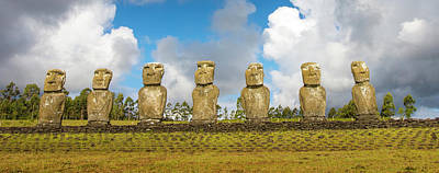 Green Chile Photograph - Easter Island, Chile by Janet Muir