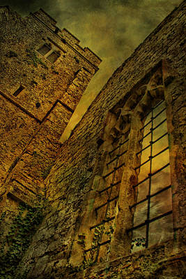 Comic Character Paintings - Eastwell Church Ruins by Dave Godden