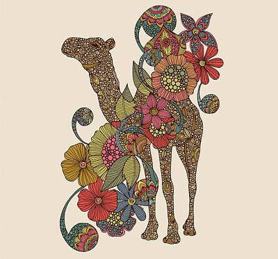 Easy Camel Print by Valentina
