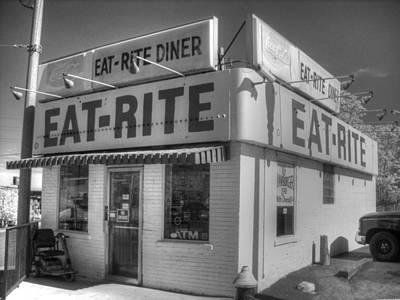 Eat Rite Diner Route 66 Art Print by Jane Linders