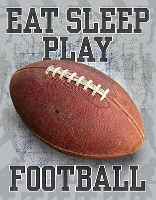 Football Painting - Eat Sleep Play Football by Jim Baldwin
