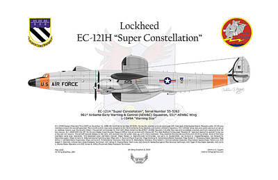 Ec-121h Super Constellation Art Print by Arthur Eggers