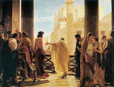 Ciseri Painting - Ecce Homo by Antonio Ciseri