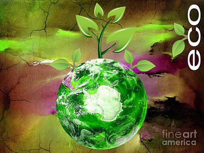 Mixed Media - Eco Awareness by Marvin Blaine