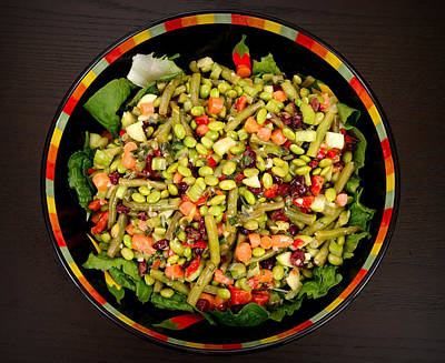 Romaine Lettuce Photograph - Edamame Salad by Science Source