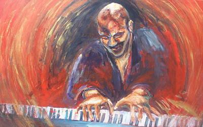 Painting - Eddie Bullen Keyboard by Susan Mains