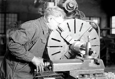 Social Change Photograph - Eddystone, Pennsylvania - Railroad Parts by Litz Collection