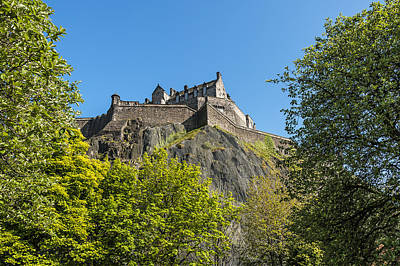 Vintage River Scenes Photograph - Edinburgh Castle by Svetlana Sewell