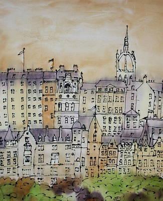 Painting - Edinburgh Scotland by Hazel Millington