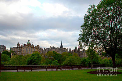 Places Digital Art - Edinburgh Skyline by Pravine Chester