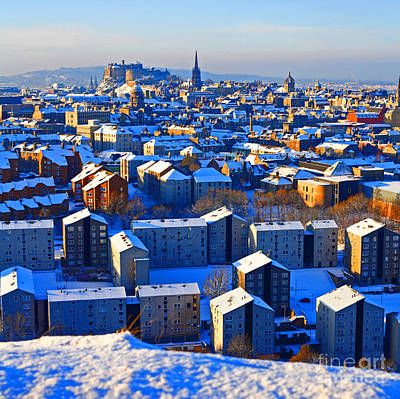 Edinburgh Winter Art Print by Craig B