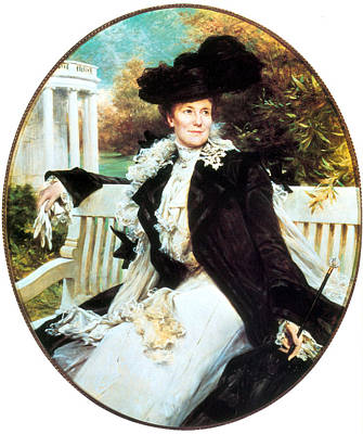 First Lady Painting - Edith Roosevelt, First Lady by Science Source