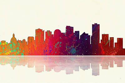 Digital Art - Edmonton Canada Skyline by Marlene Watson