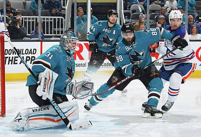Photograph - Edmonton Oilers V San Jose Sharks by Don Smith