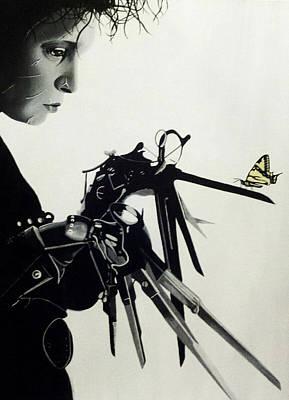 Painting - Edward Scissorhands by Amanda DeVillers