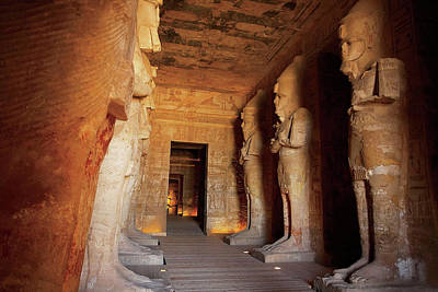 Entryway Photograph - Egypt, Abu Simbel, The Greater Temple by Miva Stock