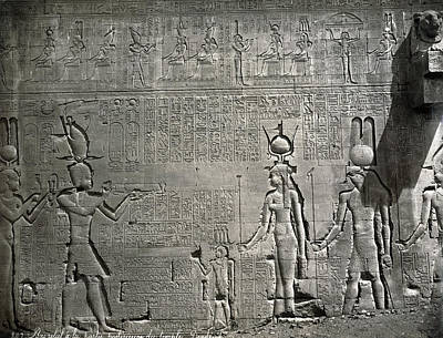 Hathor Photograph - Egypt Temple Of Hathor by Granger