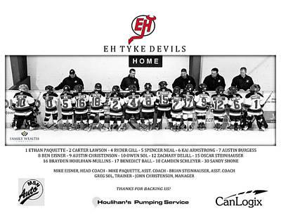 Minor Hockey Photograph - Eh Tyke Devils by Rob Andrus