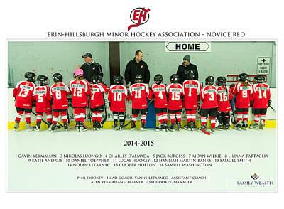 Minor Hockey Photograph - Ehmha Novice Red by Rob Andrus