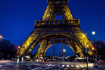Photograph - Eifel Tower At Night by Radoslav Nedelchev